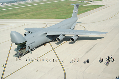 All the magazines combined weight more than the operating weight of a C-5 Galaxy. Credit: USAF