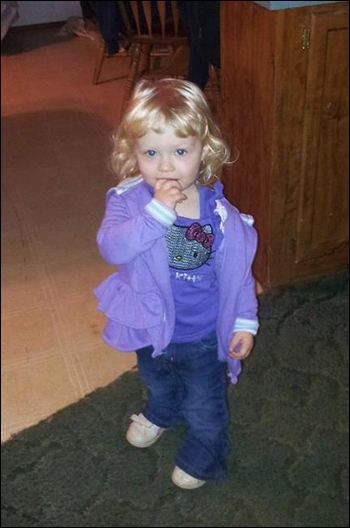 2-year-old Alexandria Hill, via Facebook