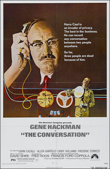 Surveillance in its infancy: a poster from Francis Ford Coppola's 1974 film, The Conversation.