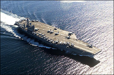 Naval Forces Face Each Other Off Syrian Shores 090713nimitz