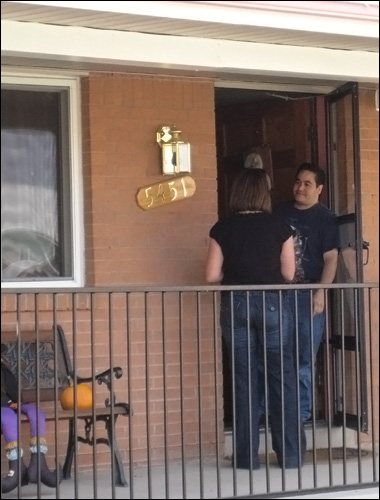 What a door-to-door Obamacare recruiter could look like.  Credit: aflcio via Flickr