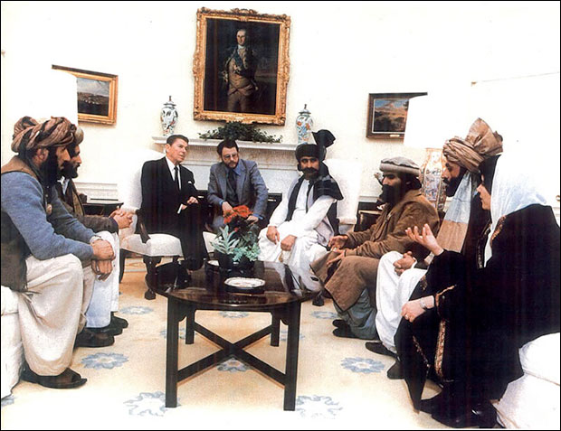 President Ronald Reagan met with the Taliban in 1983. He compared them to America's founding fathers.