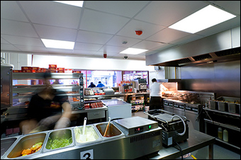 A standard fast food kitchen. (Credit:  via Flickr)
