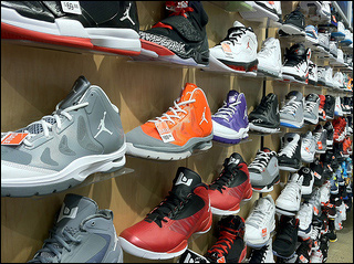 Air Jordans in all sizes. Credit: mikebindrup via Flickr