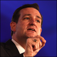 Sen. Cruz giving a speech. Credit: Gage Skidmore via Flickr