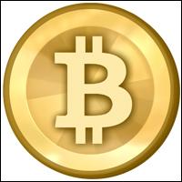 The Bitcoin logo.