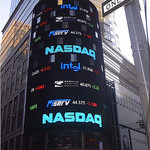 A NASDAQ ticker on Times Square.  Credit: whale05 via Flickr