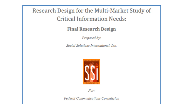 The front page of the intrusive study prepared by Social Solutions International.