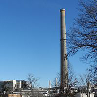 The lead smelter closing down.  Credit: Kbh3rd via Wikimedia