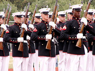 Officials are on the verge of swapping out the Marines' iconic caps. / By Jackie, via Wikimedia Commons
