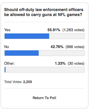 NFL Nixes Guns For Off Duty Cops at Cleveland Stadium Screen Shot 2013 10 07 at 10.01.38 AM