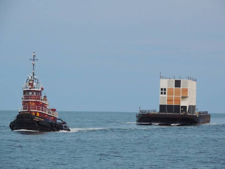 Facebook Photo Shows Another Google Mystery Barge Off the Coast of Maine barge