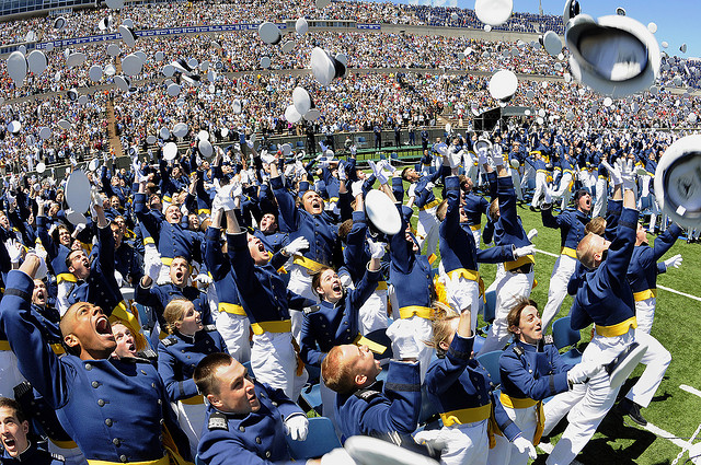 Class of 2009, USAF Academy Graduation, Colorado Springs, Co, Hat Hurray Toss. Photo: Mike Kaplan, U.S. Air Force