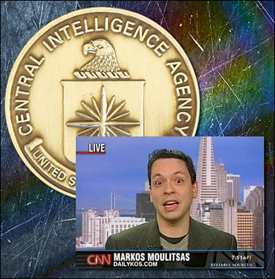 "Markos Alberto Moulitsas was a CIA intern and said the spook agency is ""a very liberal institution."""
