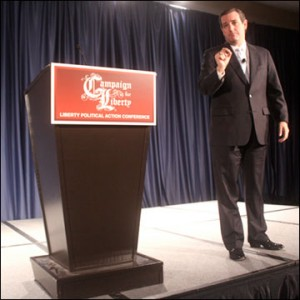 Senator Ted Cruz sidles up to Campaign for Liberty. Photo: Gage Skidmore