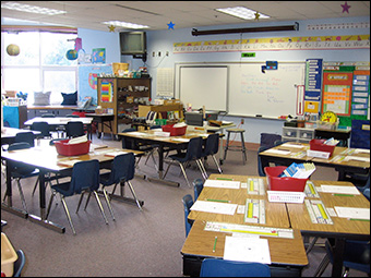 A typical classroom in the United States.  Credit:  LizMarie_AK via Flickr