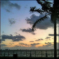 A sunset on the beach by Miami Shores, Florida. Credit: miamism via Flickr