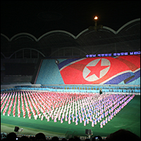 Collectivism and propaganda is at a peak in North Korea.  Credit: Michael Day via Wikimedia