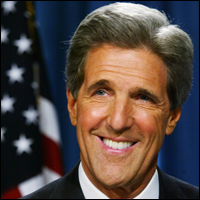 Secretary of State John Kerry has been in office since Feb. 2013.