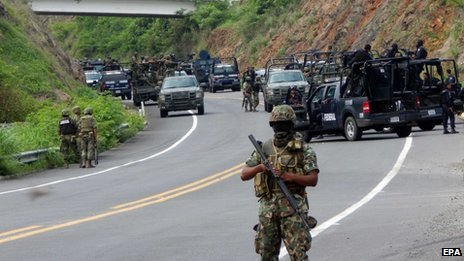 The federal government sent in soldiers to Michoacan earlier this year