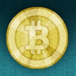 The logo of the cryptocurrency known as Bitcoin.