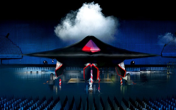BAE Systems' Taranis, a semi-autonomous unmanned warplane, that will use stealth technology and can fly intercontinental missions and attack both aerial and ground targets Photo: HANDOUT