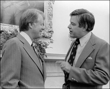 President Jimmy Carter and Senator Frank Church in 1977. Photo: National Archives and Records Administration