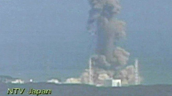 March 14, 2011: In this image made off Japan's NTV/NNN Japan television footage, smoke ascends from the Fukushima Dai-ichi nuclear plant's Unit 3 in Okumamachi, Fukushima Prefecture, northern Japan. (AP/NTV/NNN Japan)