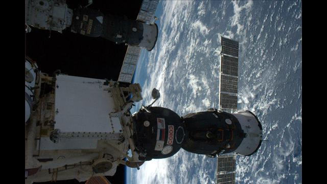 Spaceship on International Space Station. Courtesy Dr. Tom Mashburn and NASA.