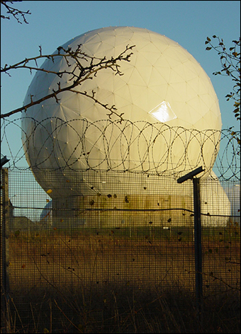 An intelligence radome waterproofs the equipment and conceals it from public view.