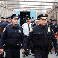 The NYPD has nearly 35,000 uniformed officers. Credit: PaulSteinJC via Flickr