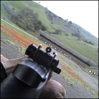 A M-1 Garand at a 100 yard gun range. Credit: ryochiji via Flickr