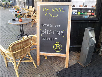 A cafe in Amsterdam that accepts Bitcoin. Credit: Targaryen via Wikimedia