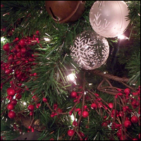 The decorations usually found on a Christmas tree in the living room. Credit: Zechariah Judy via Flickr