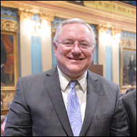 Sen. Rick Jones, the bill's sponsor, spent 31 years with the Eaton County sheriff's dept.