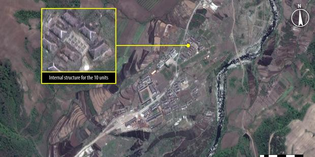 A satellite image from Kwanliso 16,the largest political prison camp in North Korea.