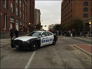 Dallas Police squad car at 50th anniversary of JFK death.