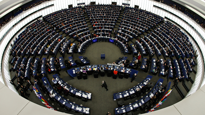 Members of the European Parliament take part in a voting session at the European Parliament in Strasbourg (Reuters / Vincent Kessler)