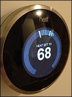 The Nest thermostat can record energy history. Credit: grantsewell via Flickr