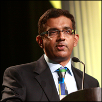 Dinesh D'Souza at the 2013 FreedomFest in Las Vegas, Nev. Credit: gageskidmore via Flickr