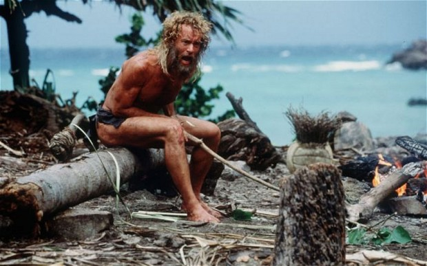 The story is reminiscent of the Tom Hanks film Cast Away