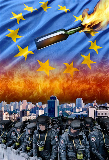 Rejection of free trade zone draft agreement between Ukraine and the EU led to orchestrated protests and deadly violence.