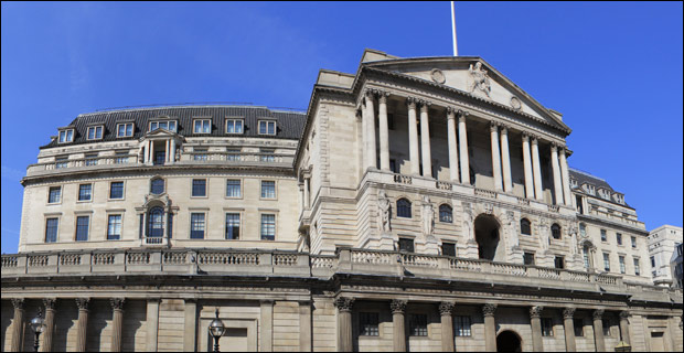 The partnership between governments and banks was perfected by the foundation of the Bank of England in 1694. Credit: Katie Chan via Wiki