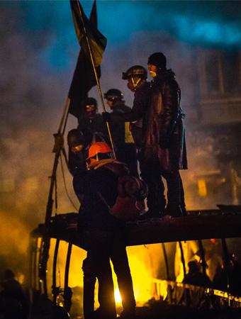 ver the past several days, Kiev has literally turned into Dante's Inferno. Credit: Sasha Maksymenko via Flickr