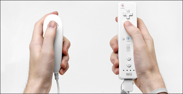 Two types of Nintendo Wii controllers, neither of which resemble a firearm. Credit: Evan-Amos via Wiki