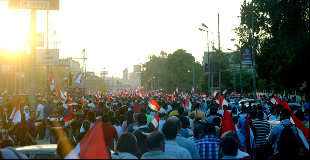 Credit: Egyptians protest against then-president Morsi in 2013.  Credit: Lilian Wagdy / Wiki