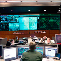 A NORAD tactical operations center, which looks very similar to DHS fusion centers.