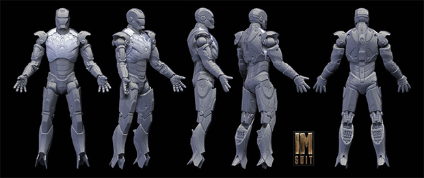 3d scan of Iron Man Action Figure / Image: Hal8998, via DeviantART