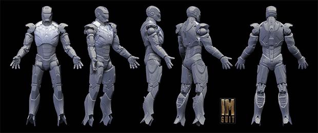 3d scan of Iron Man Action Figure / Image: Hal8998, via DeviantART