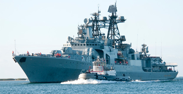A Russian Udaloy-class destroyer.